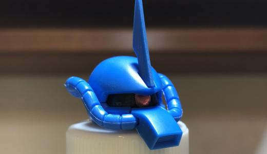 HGUCグフ製作:頭部はこんな感じ